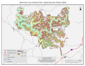 Map 2: Digital Elevation Model
