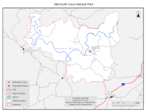 Map 1: Mammoth Cave National Park
