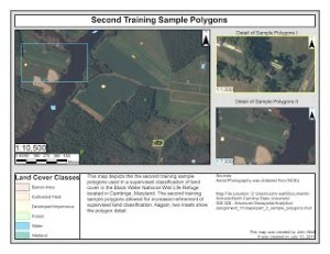 Map 3: Second Training Sample Polygons